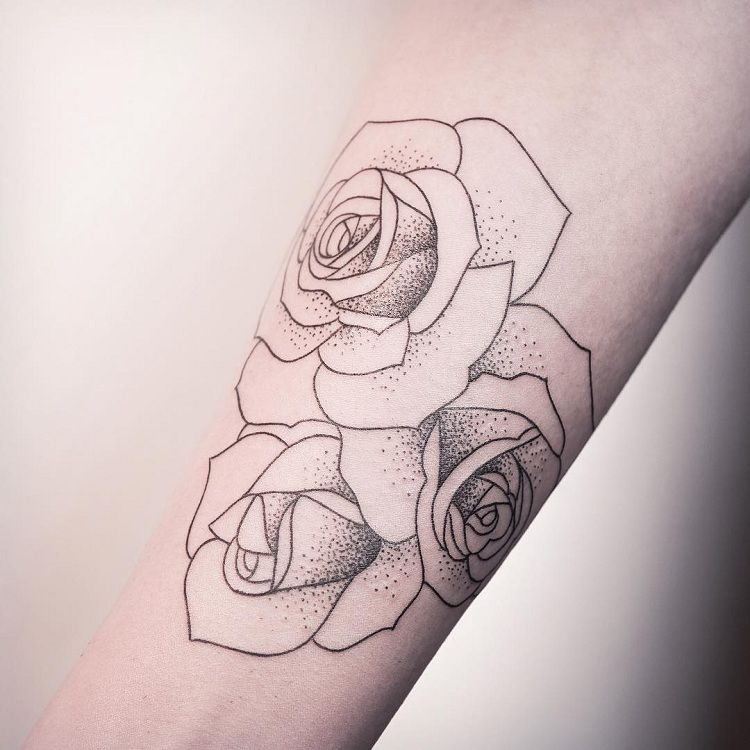 tatuajes de rosas opciones originales Like Pinterest Tatuajes - tatuajes de rosas