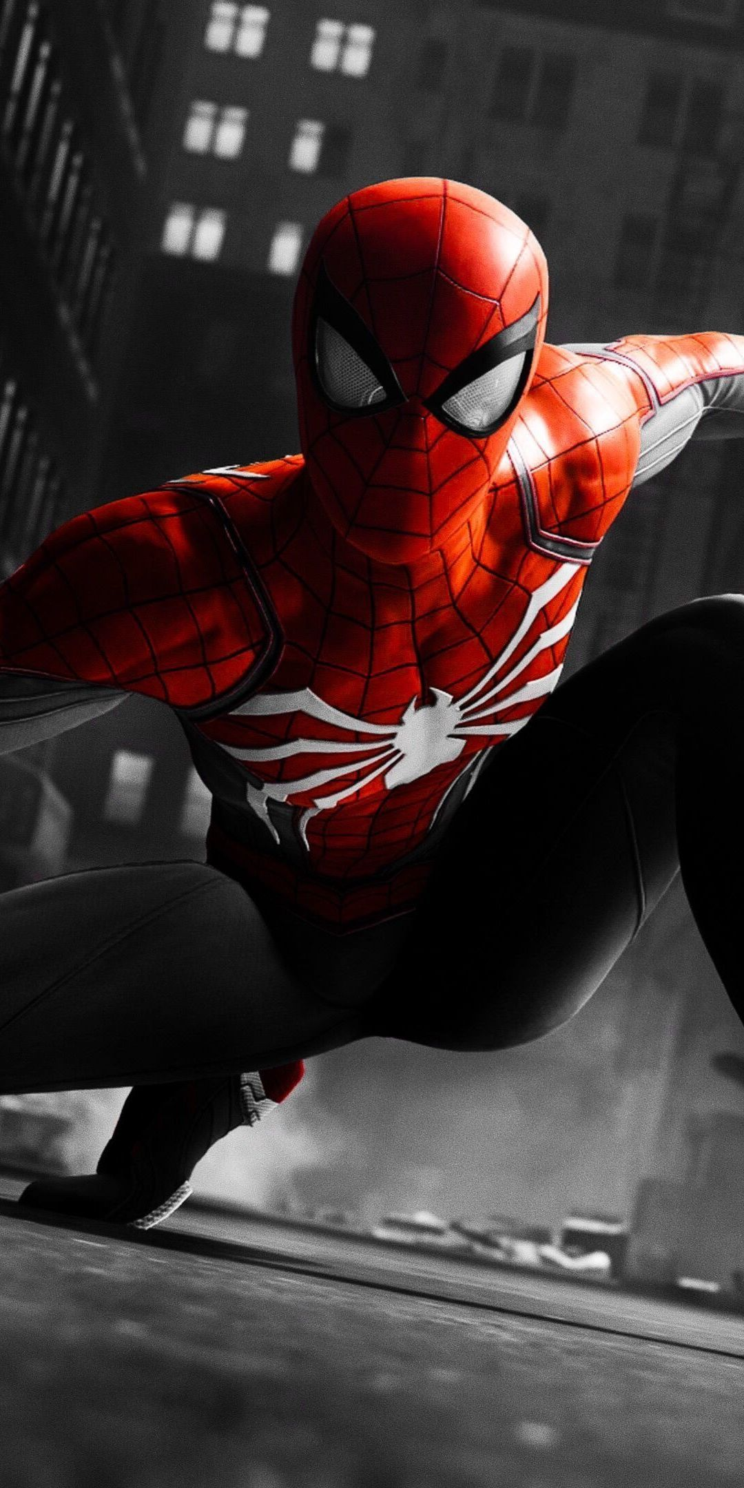 Black And Red Suit Spider Man Video Game 1080x2160 Wallpaper In 2020 Marvel Spiderman Spiderman Spiderman Ps4