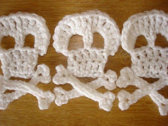 Crochet Skull Pattern By Steelandstitch Crochetknit Skullsbones