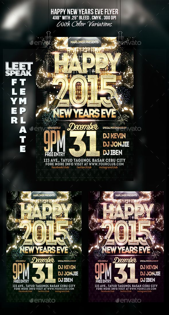 this poster is suitable for new year eve event flyer featuresflyer