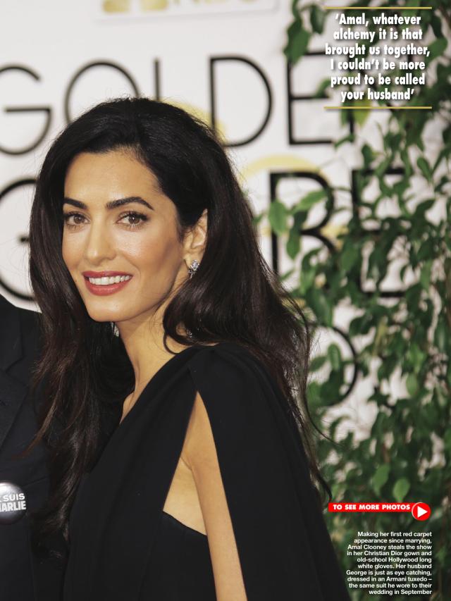Amal at GG 2015.