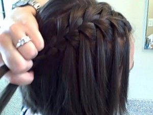 waterfall braid; good for short hair