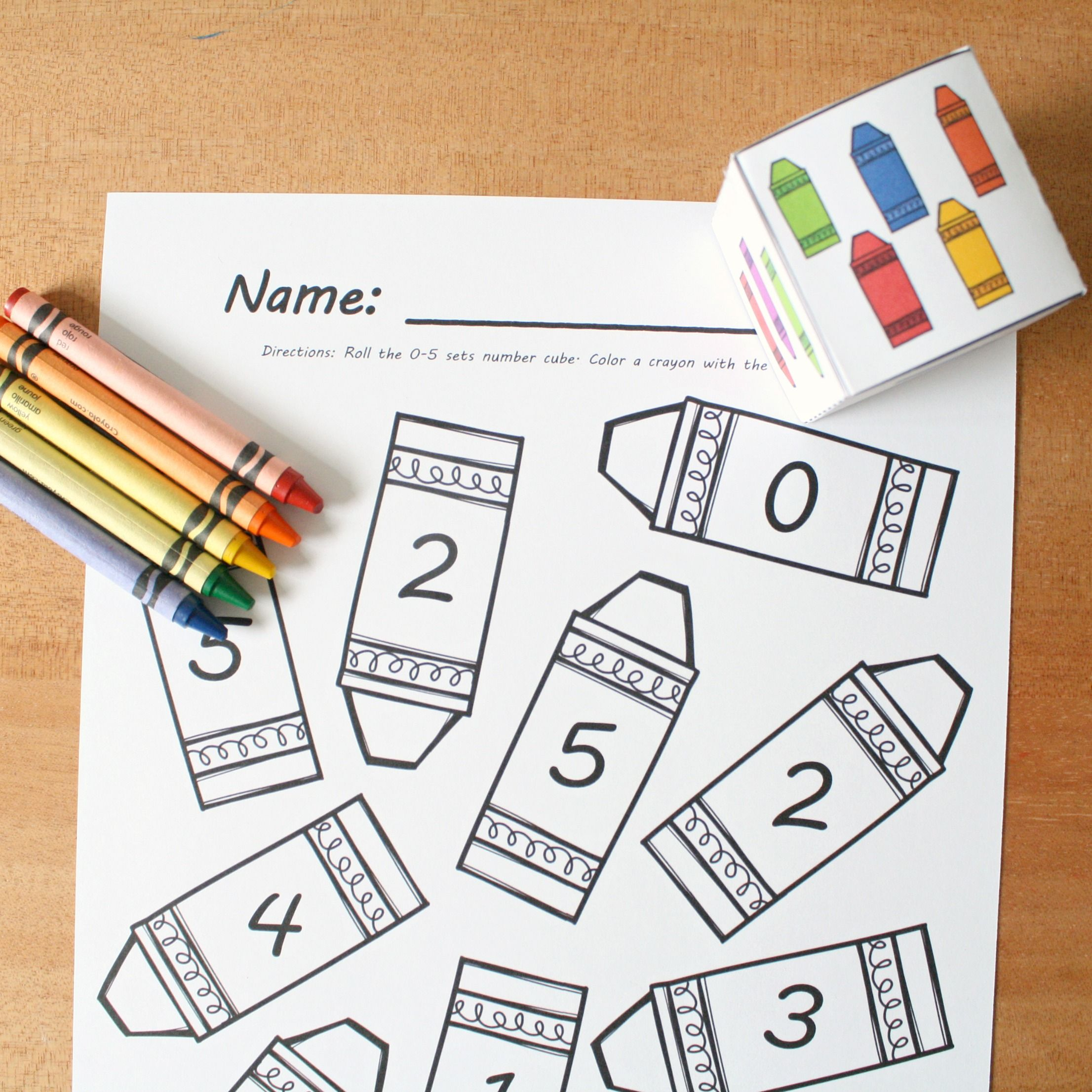 Counting Crayons Roll and Color Math Game | Maths, Fun learning and ...