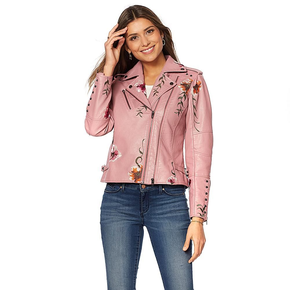 elissa french terry moto jacket womens