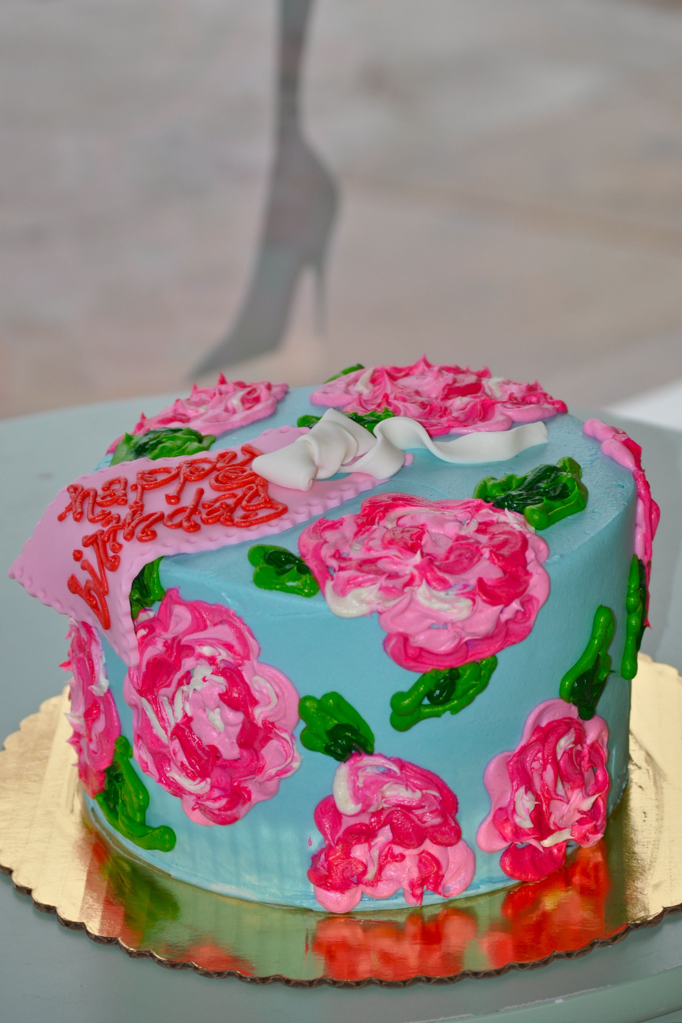 Lilly Pulitzer Birthday Cake wwwleahssweettreatscom Custom