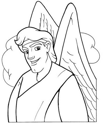 Gabriel coloring sheet | Advent | Pinterest | Coloring bible and ...