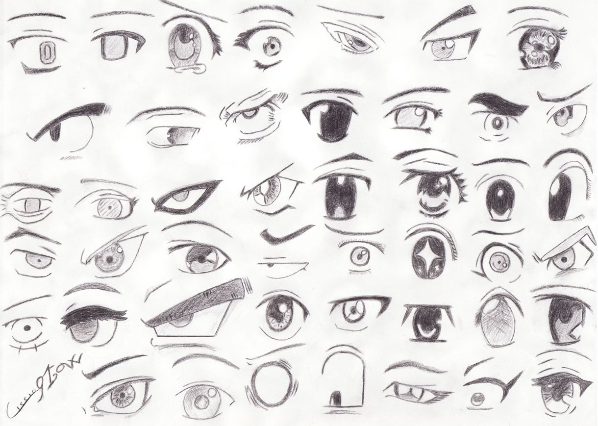 So many ways you can draw eyes