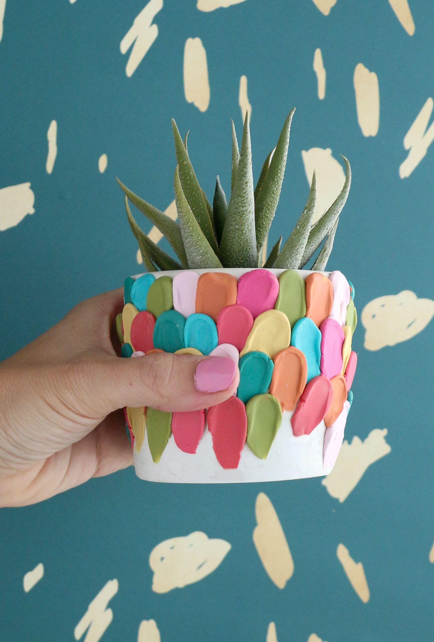Make A Clay Petal Planter   Schmuckaufbewahrung   Pinterest ...