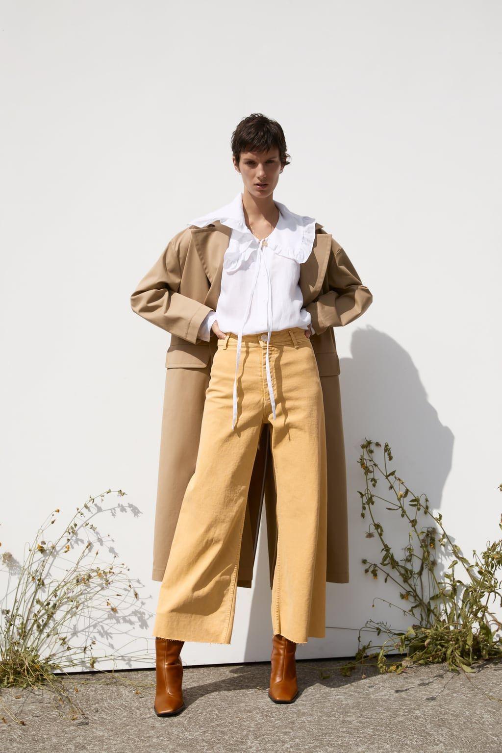 Jeans Zw Premium Marine Straight Zara Jeans Senfgelb