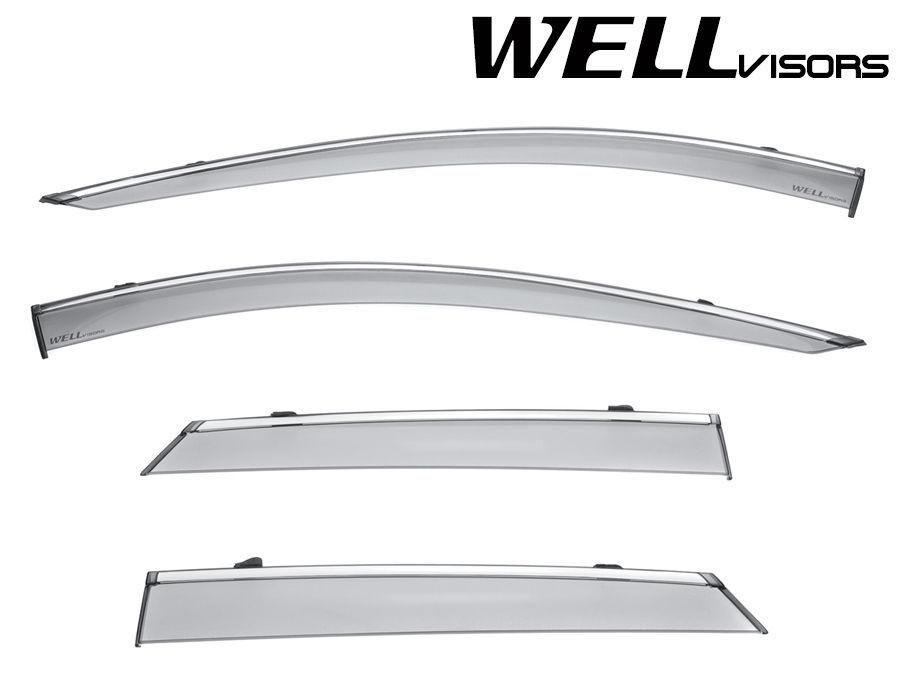 Wellvisors Rain Sun Wind Deflectors Lexus LS400 90-94 Window Visors Chrome