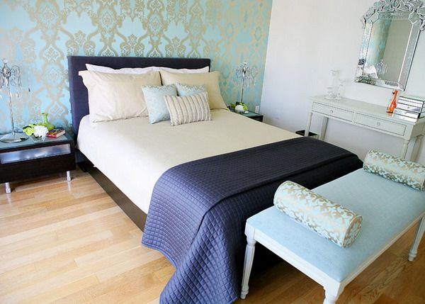 Bedroom Design Ideas With Wallpaper Decor Various Designs Of