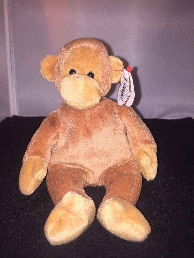 Beanie Baby Bongo Monkey 1995 (Still Has Tags)  Ty  d743b91843a6