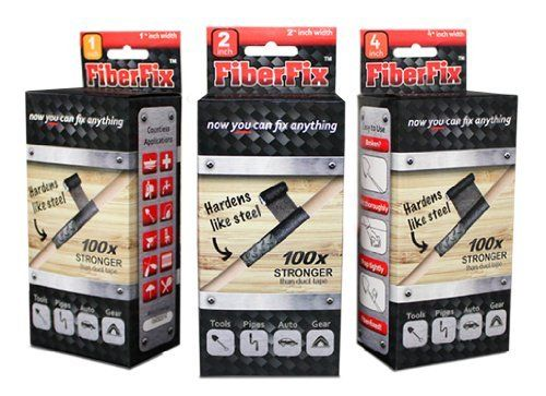 "FIBER FIX - Super Adhesive Tape - 3 Rolls: 1"", 2"" & 4"" - 100x Strength of Duct Tape: Fix & Repair: Automotive, Plumbing, Pipe & Hose, Emergency, DIY by FiberFix, http://www.amazon.com/dp/B009WSDWUG/ref=cm_sw_r_pi_dp_1AzCsb0QY8MT2"
