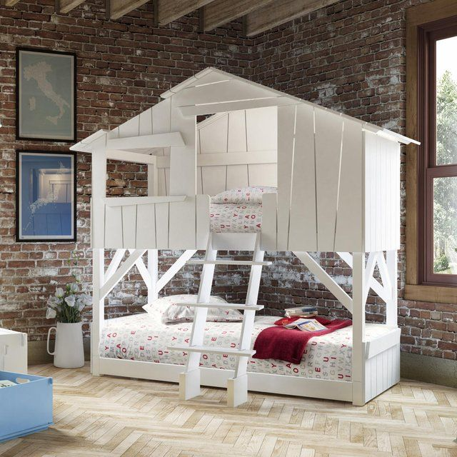 Treehouse Bedroom Bunk Bed With Images Cool Bunk Beds Kid