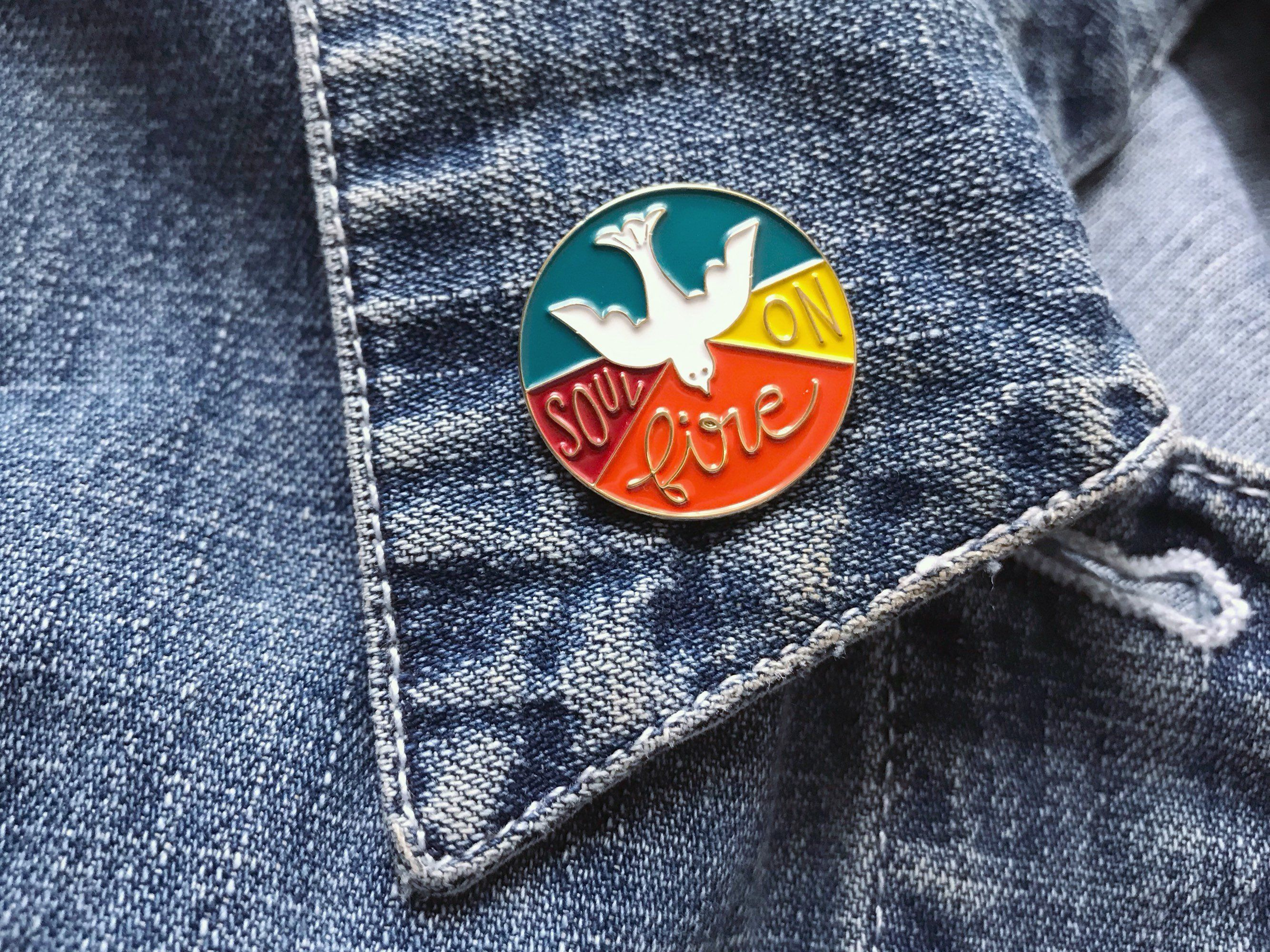 Holy spirit enamel pin enamel pins holy spirit
