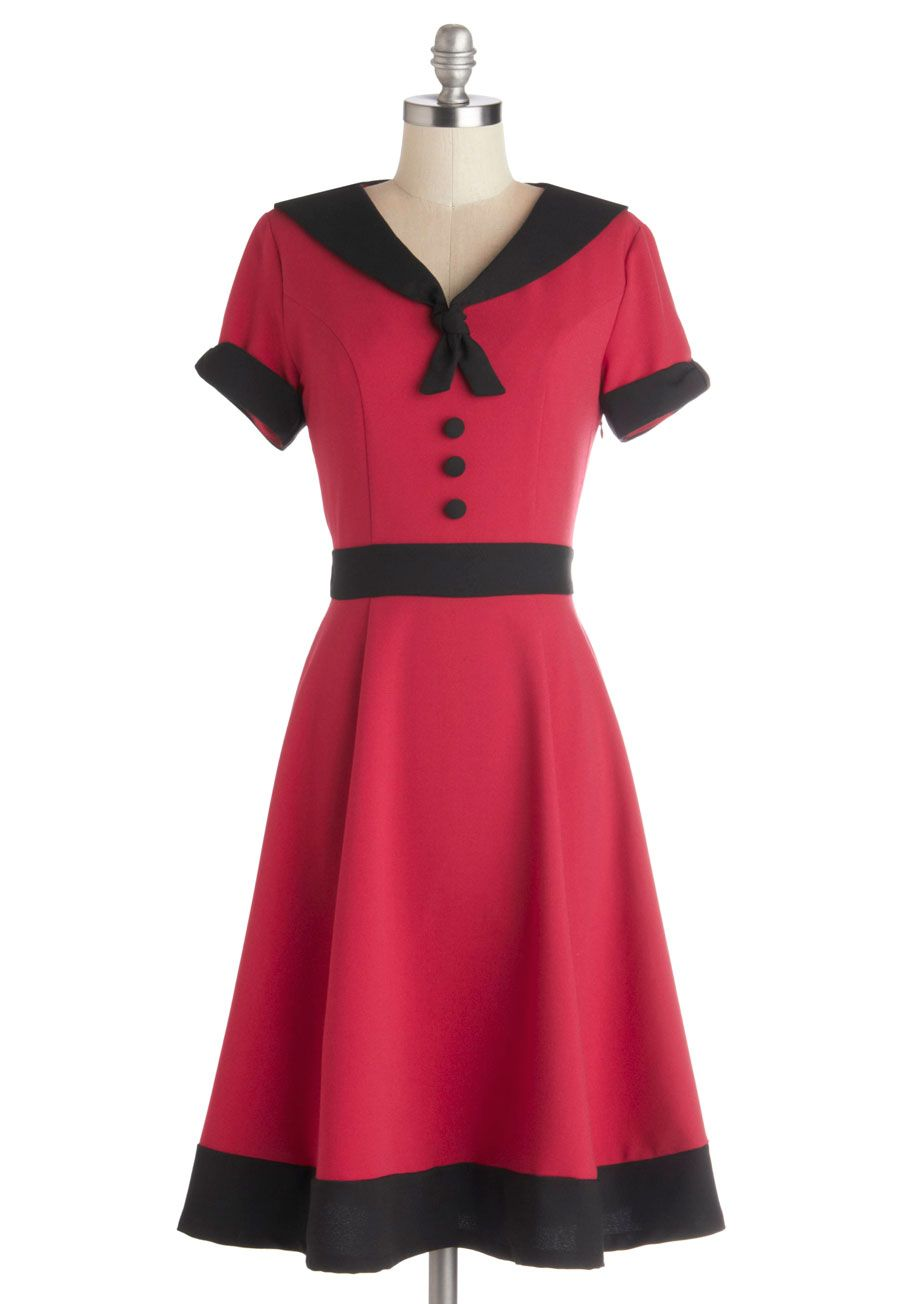 f8059710068 Come As You Aura Dress. Dressing to match your distinctive character just  got simpler with this fit-and-flare dress in your closet!  red  modcloth