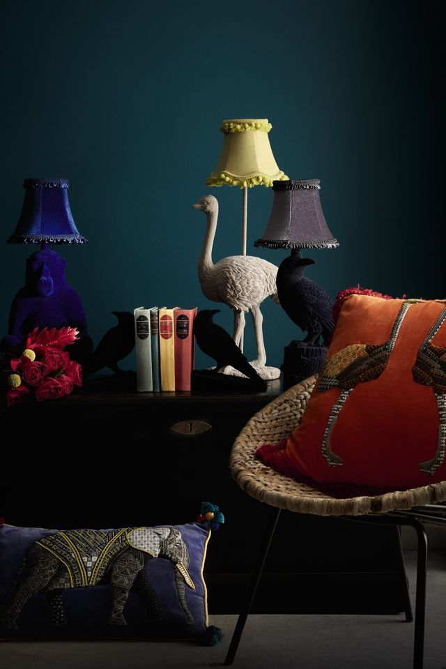 Debenhams SS16   ATELIER Abigail Ahern   Bloglovin' I love the raven/crow lamp and bookends!