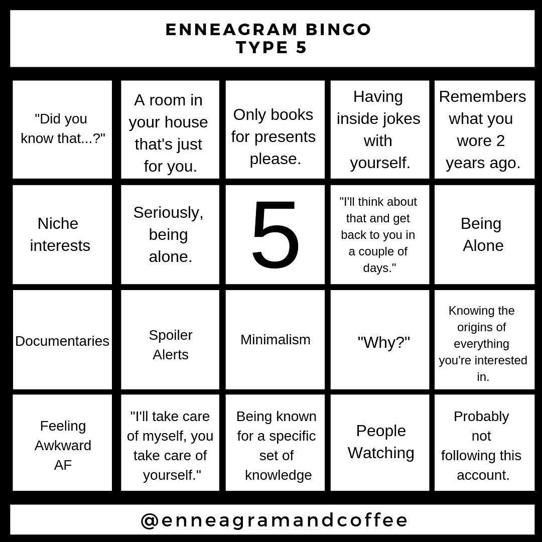 Enneagram Amp Coffee On Instagram Where My Enneagram 5 S At Do You Love A 5 Enneagram5