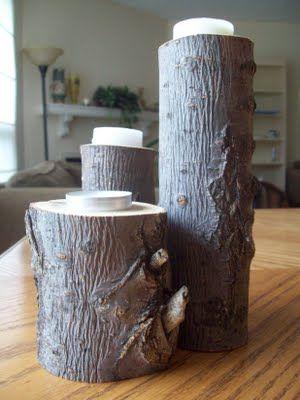 Handmade oak candlesticks, looks so easy to make!
