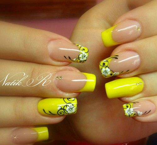 #NailArt, #Yellow #nails - ✨