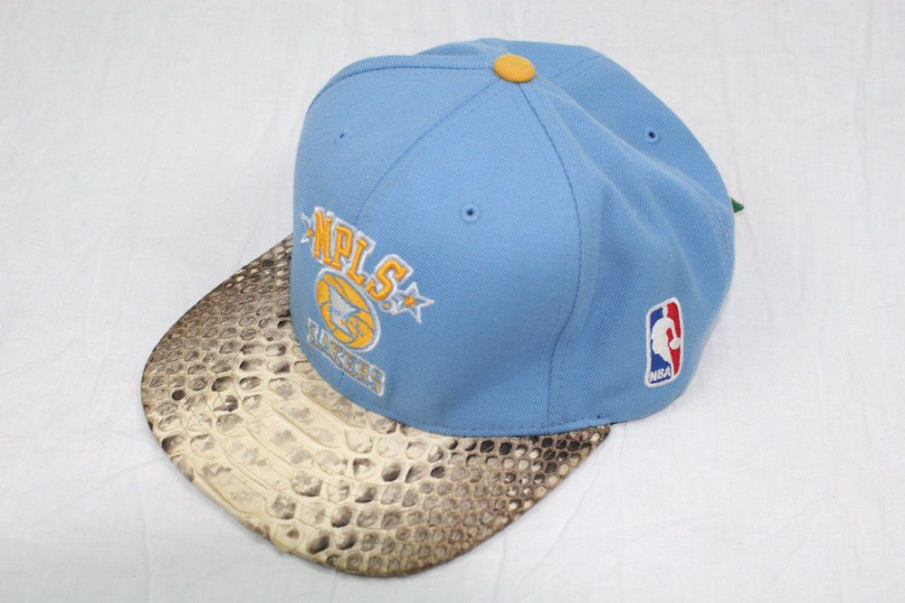 JUST DON C RSVP LOS ANGELES LAKERS MPLS BLUE LEATHER SNAKE SKIN CAP HAT  SNAPBACK 598e1b1ab14