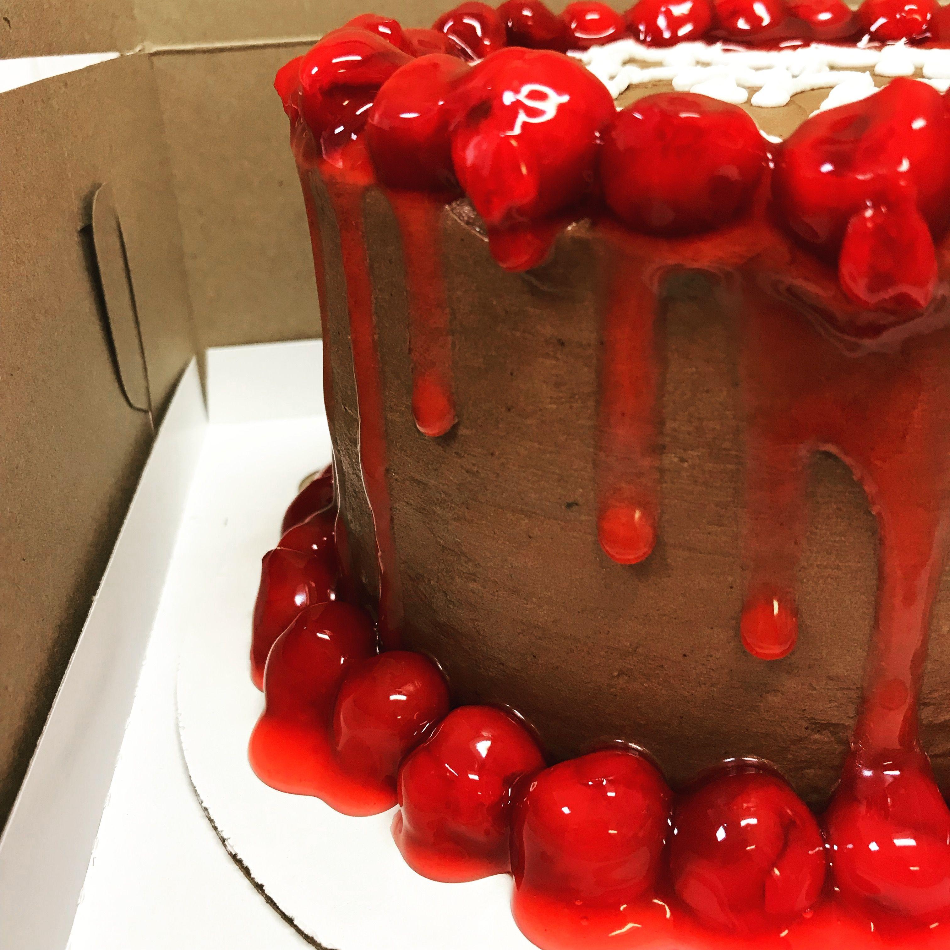 Black cherry cake