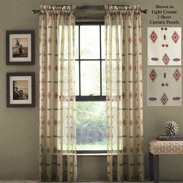Chimayo Southwest Sheer Curtain Panels By Croscill Panel Curtains Curtains Southwest Home Decor