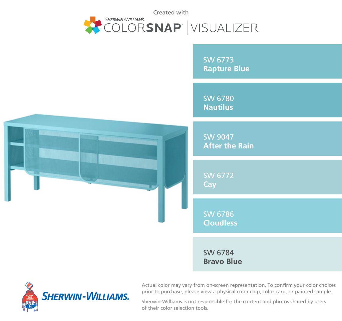 Rapture Blue Sherwin Williams Paint Colors In 2018 T Paint