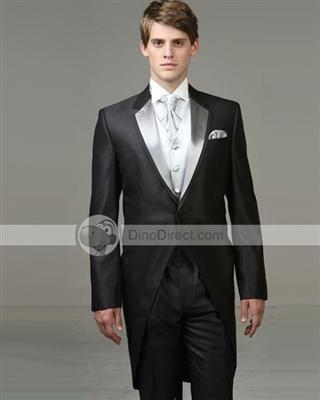 69a88aa338 Walesbridal Stylish Satin Lapel Single Breasted Men Wedding Tuxedos Set  3Pcs - US DinoDirect.com