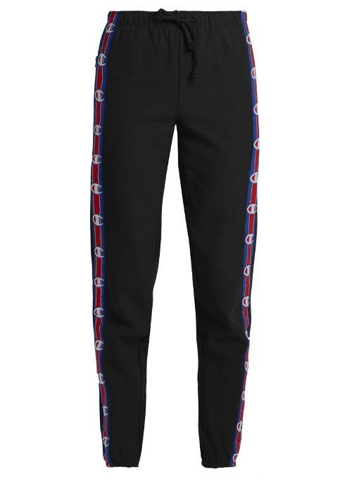 Vetements X Champion cotton-blend track pants  4b356ef17de