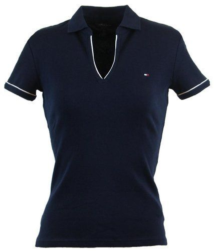 b86653c5 Tommy Hilfiger Women Classic Fit Buttonless Logo Polo Shirt Tommy Hilfiger.  $44.99