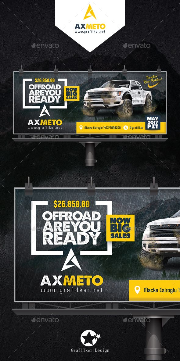 Off-Road Adventure Billboard Templates Billboard, Photoshop and - car ad template