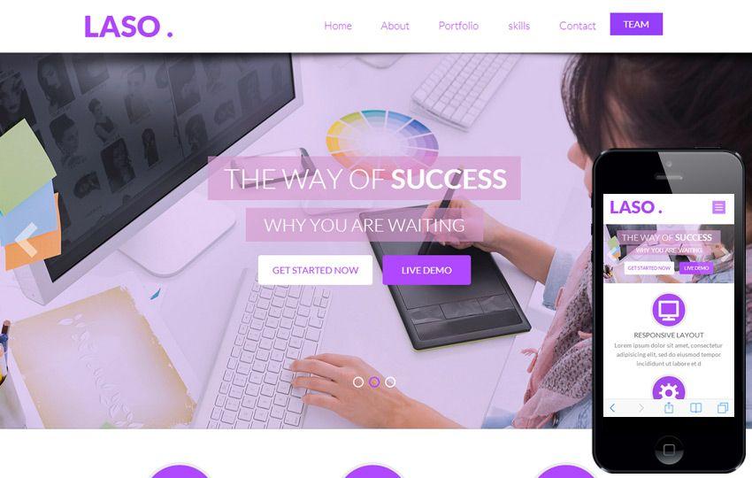 Laso Laso Free Bootstrap Theme Web design, Personal