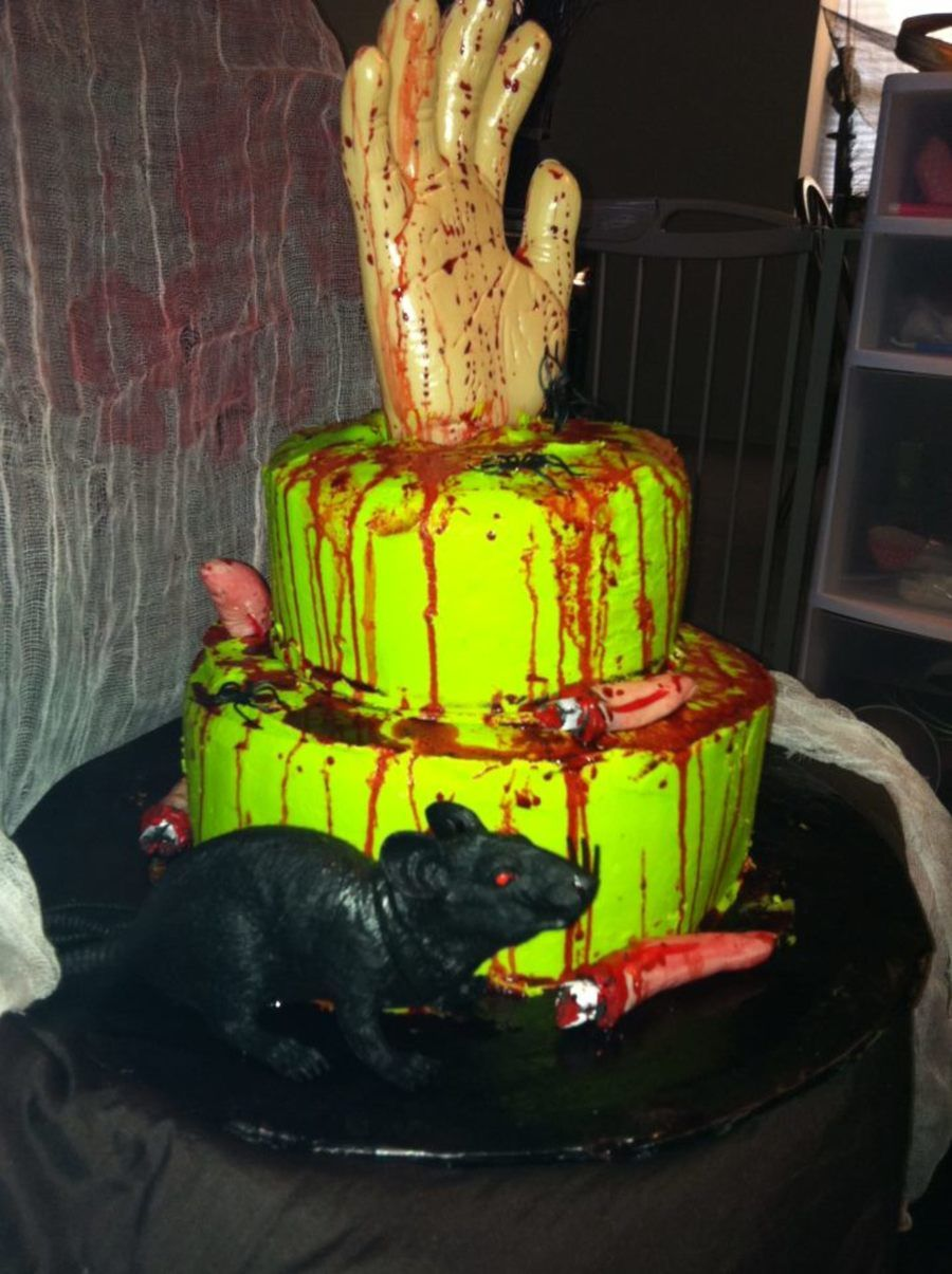 Goosebumps Inspired Birthday/halloween Party Cake on Cake Central ...