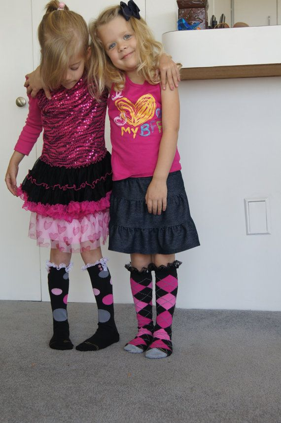 Little girl boots, Lace boot socks