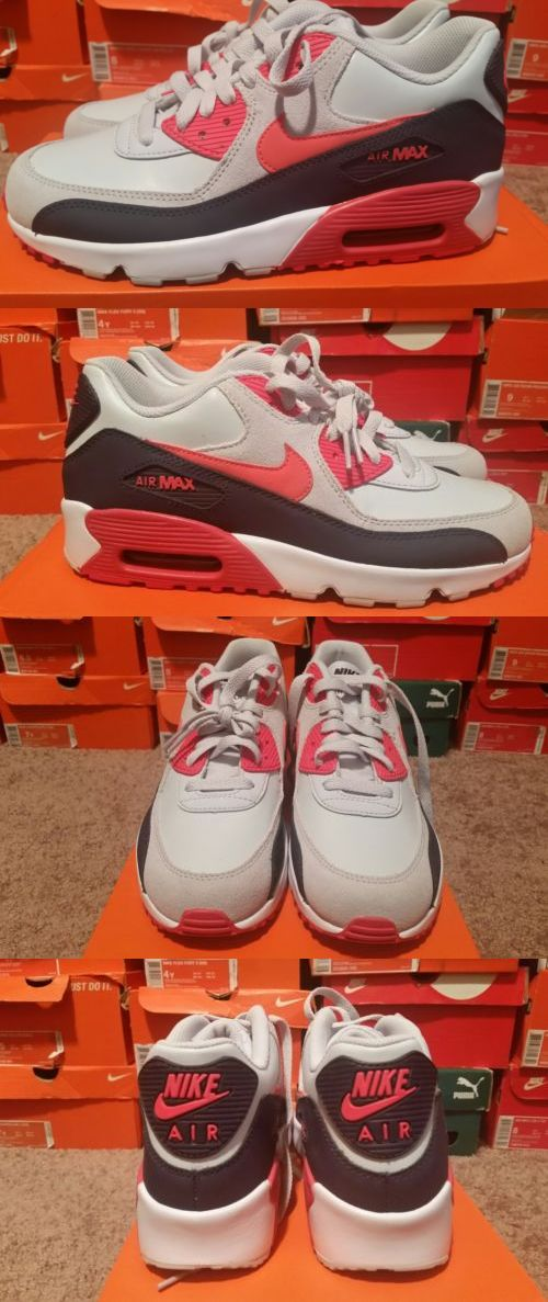 Unisex Shoes 155202: Nike Air Max 90 Ltr Leather (Gs) Size 6.5Y