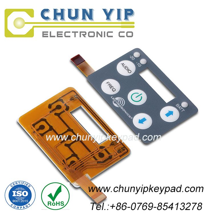 LED membrane switch keypad with flexible printed circuit and