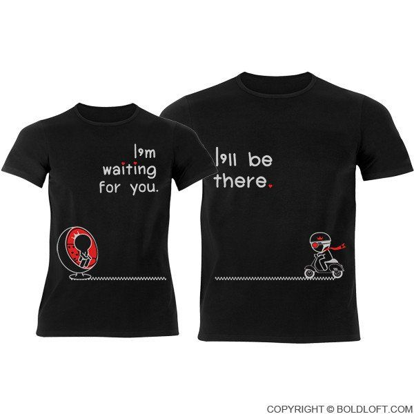 Love is on the Way™ Couple T-Shirts Black  f5d19dd37a5
