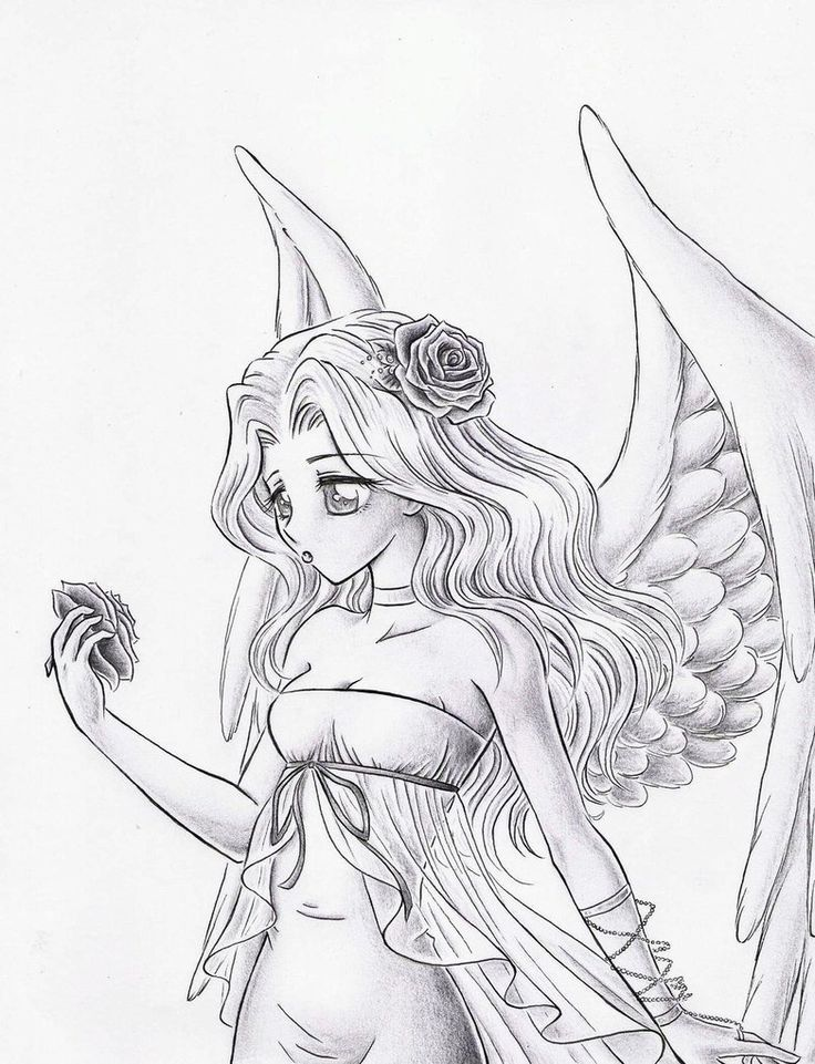Ange Amour Angel Drawing Angel Drawing Easy Angel Coloring Pages