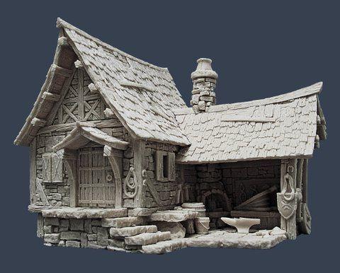 Pin su miniature for Modelli case 3d