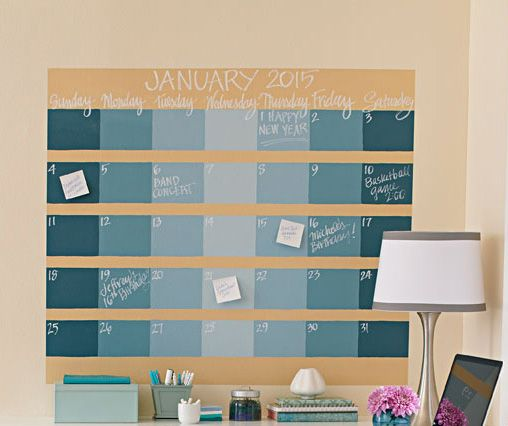 How to Make a Chalkboard Wall Calendar Midwest Living S