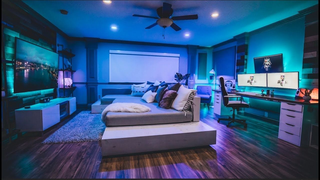 Office Tour 20!! My NEW Studio/Office Setup 🔥  Bedroom setup