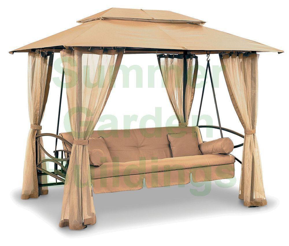Luxury Outdoor Garden Swing Seat Cushioned 3 Seater 400 x 300