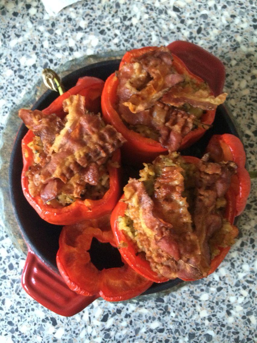 Gevulde paprika's uit de oven