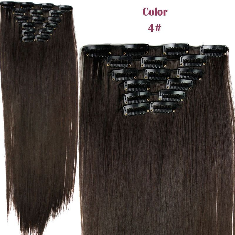 Hairpiece 23inch 140g Straight 16 Clips In False Hair Styling