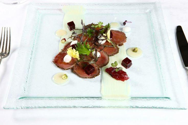 Food presentation for restaurant dining. Square PlatesPlate ... & square plates presentation | transparent glass square plate frames ...