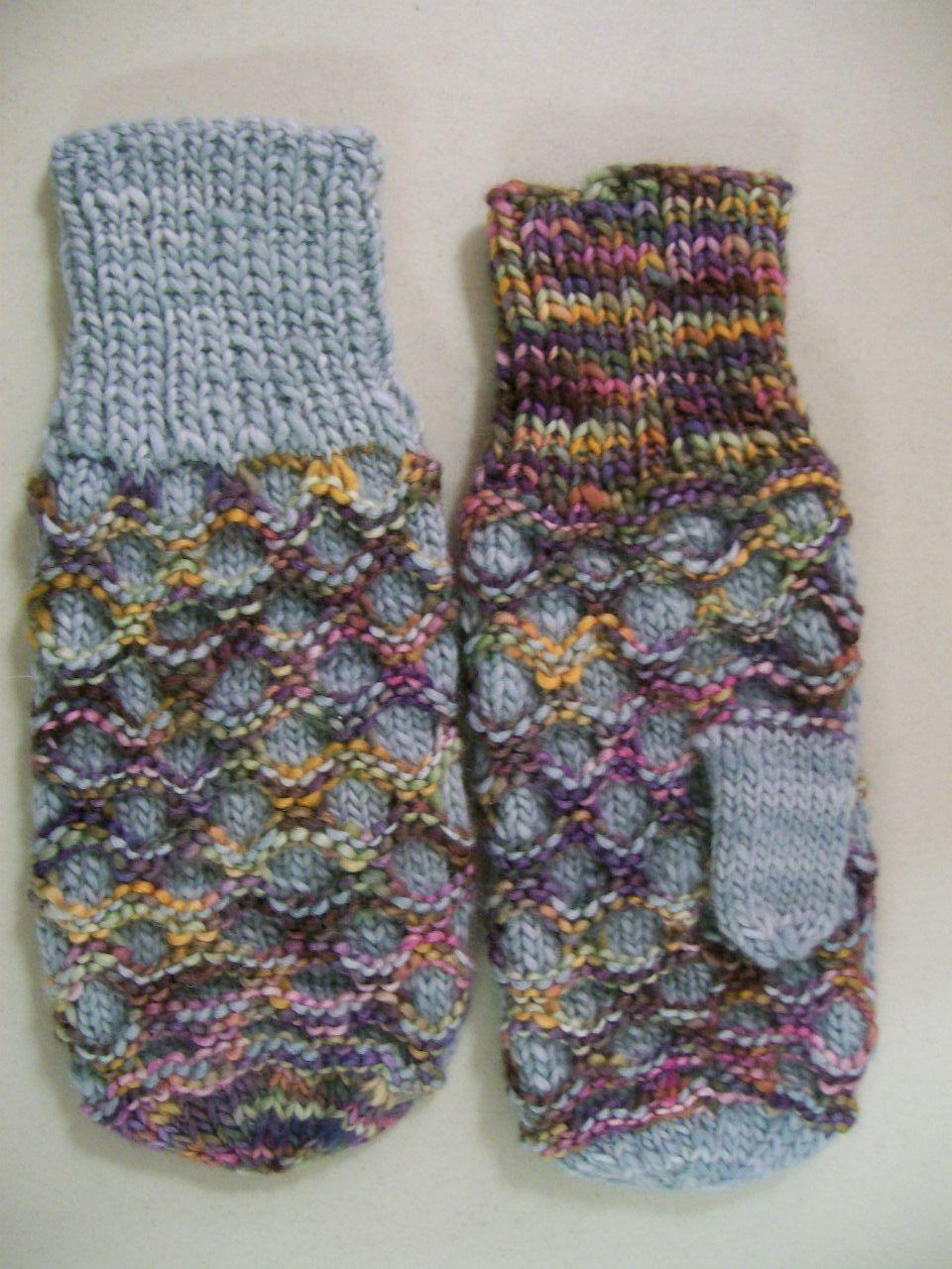 KnitTraders of Kingston Patterns: HONEYCOMB MITTENS | Handavinna og ...