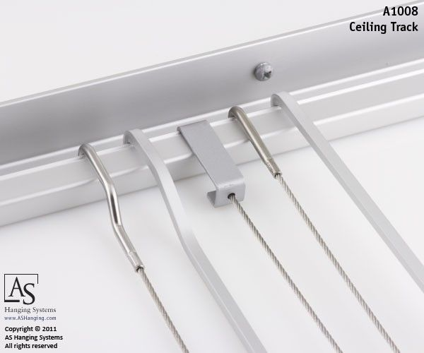 Clic Ceiling Track Art Hanging