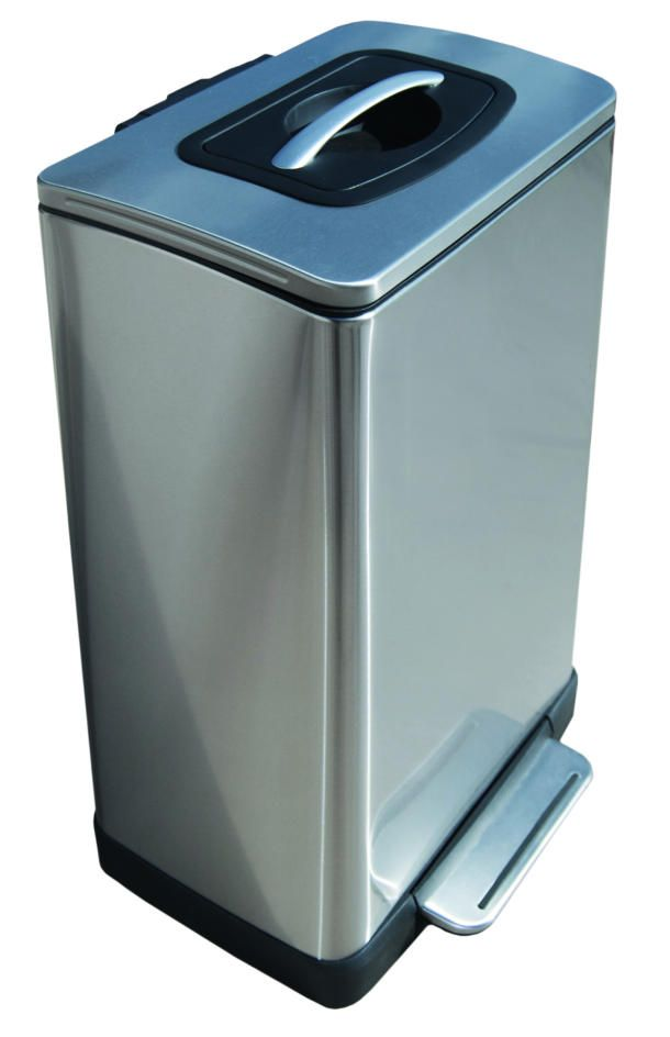 Step Can Steps Up With Trash Compactor