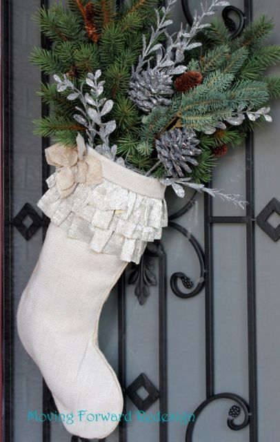 DIY Christmas door stocking